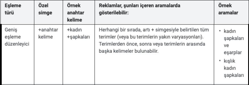 anahtar kelime eşleme türleri, Seotional